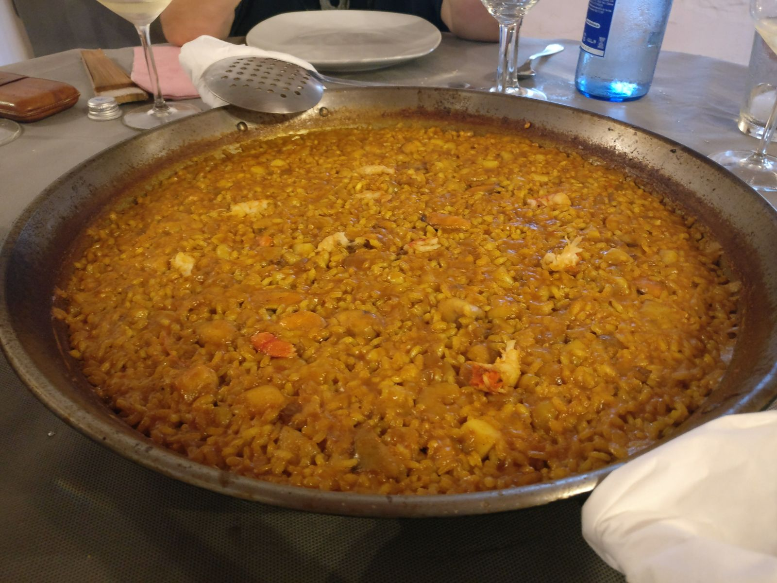 Foto del arroz del senyoret que nos comimos